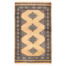 Tribal Bokhara Hand-Knotted Beige Area Rug