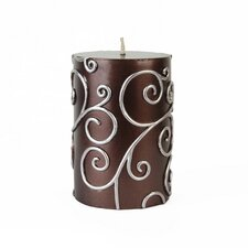Scroll Pillar Candle
