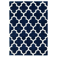 Arabesque Hand-Tufted Blue Area Rug