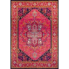 Kaleidoscope Pink Area Rug