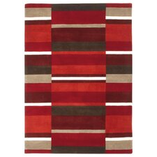 Jazz Hand-Woven Red Area Rug