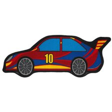 Motivteppich Bambino Car in Rot/Blau