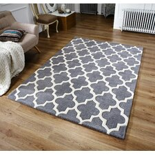Arabesque Hand-Tufted Grey Area Rug