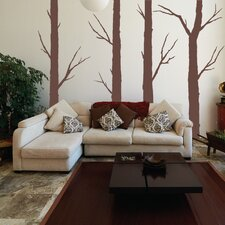 4 Piece Forest Trees Wall Decal Set
