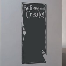 Believe and Create Wall Decal
