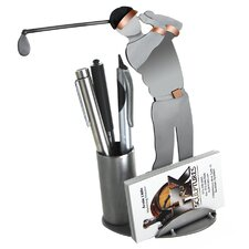 Golf Driving Business Card Holder