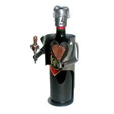 Hearts & Flowers-Male 1 Bottle Tabletop Wine Rack