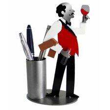 Wine Steward Pen Holder