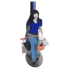 Shopaholic Silhouette 1 Bottle Tabletop Wine Rack