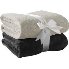 Solid Fleece Throw (Set of 2)