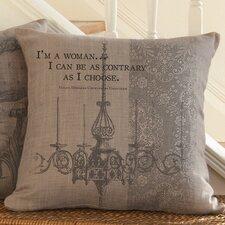 Downton Abbey I'm A Woman Throw Pillow