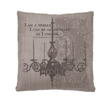 Iconic I'm A Woman Pillow Cover