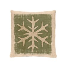 Rustic Snowflake Throw Pillow