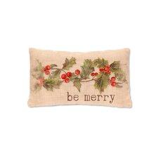 Holly be Merry   FabricLumbar Pillow