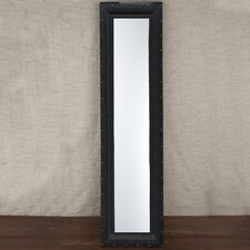 Mission Dots Tall Mirror - Faux Leather/MDF/Glass
