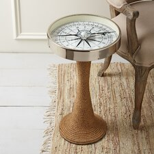 Working Compass Accent Table with Rope Base