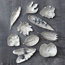 10 Piece Large Foliage Dish Sculpture Set