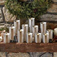 15 Piece Flameless Pillar Candle Set