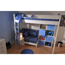European Single High Sleeper Bed with Storage