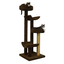 """66"""" Bed and Cradle Cat Tree"""