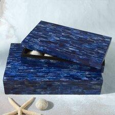 La Mer Lapis Tiled Boxes (Set of 2)