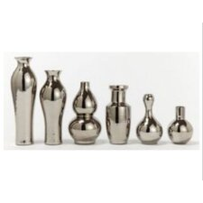 6 Piece Platinum Vase Set