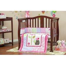 Spring Time Portable 3 Piece Mini Crib Bedding Set