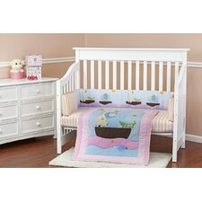 Sea Friends 3 Piece Crib Bedding Set
