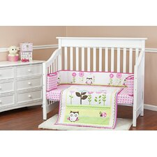 Baby Owl 3 Piece Crib Bedding Set