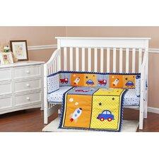 On The Go 3 Piece Crib Bedding Set