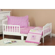 Butterfly and Flower 4 Piece Toddler Bedding Set
