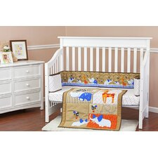 Jungle Babies 3 Piece Crib Bedding Set