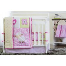 Naptime Reversible Portable 5 Piece Crib Bedding Set