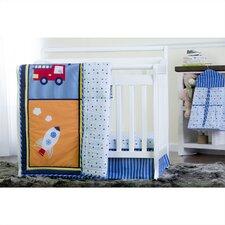 On The Go Reversible Portable 5 Piece Crib Bedding Set