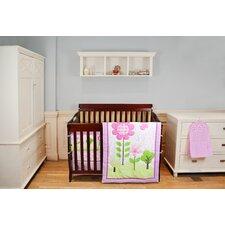 Spring Garden Reversible Portable 5 Piece Portable Crib Bedding Set