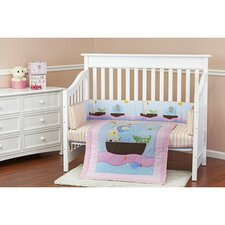 Sea Friends Portable 3 Piece Crib Bedding Set