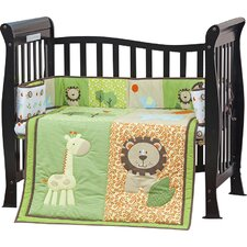 Safari Animals Portable 3 Piece Crib Bedding Set