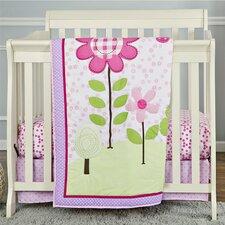 Spring Garden Portable 3 Piece Crib Bedding Set