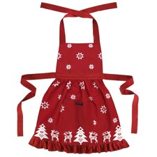 Betty Christmas Fir Tree Frilly Apron