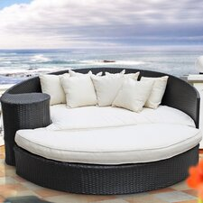Taiji Outdoor Daybed with Ottoman & Cushion