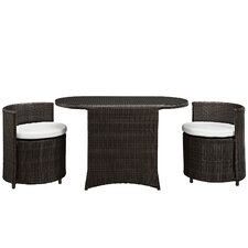 Katonti 3 Piece Dining Set with Cushions