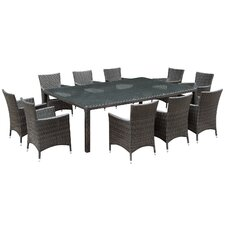 Alfresco 11 Piece Dining Set with Cushions