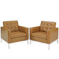 Loft Leather Arm Chair (Set of 2)