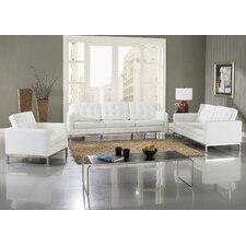 Loft 5 Piece Leather Sofa Set