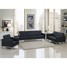 Loft 4 Piece Leather Sofa Set
