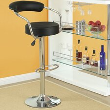 Diner Adjustable Height Swivel Bar Stool with Cushion (Set of 3)