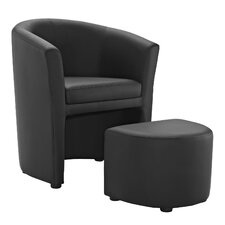 Divulge Arm Chair and Ottoman Set