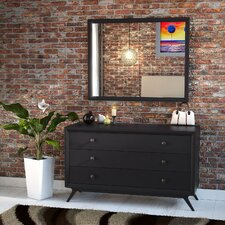 Tracy 3 Drawer Dresser with Mirror