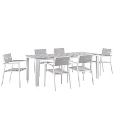 Maine 7 Piece Outdoor Patio Dining Set