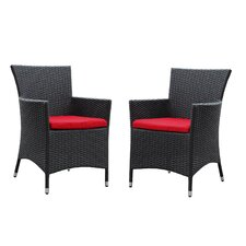 Deco Dining Arm Chair with Cushions (Set of 2)